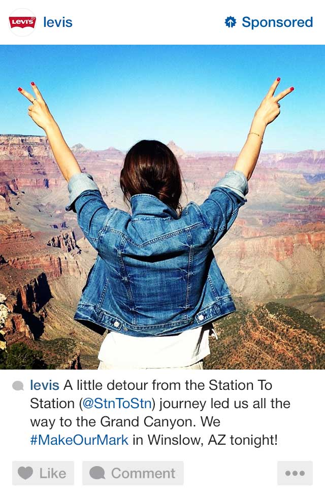 levis ad on instagram