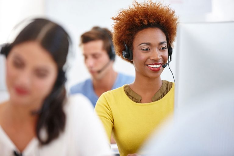 agents working in contact center