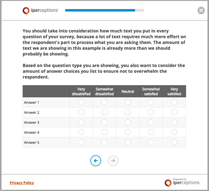 How To Increase Survey Response Rates - Example of a survey question that includes too much text