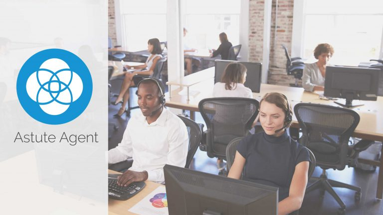 banner image for astute agent with call center agents working