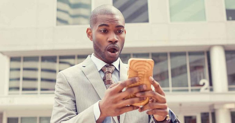 person on smartphone using whatsapp for customer service