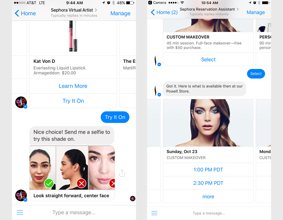 example of intelligent virtual assistant iva for sephora