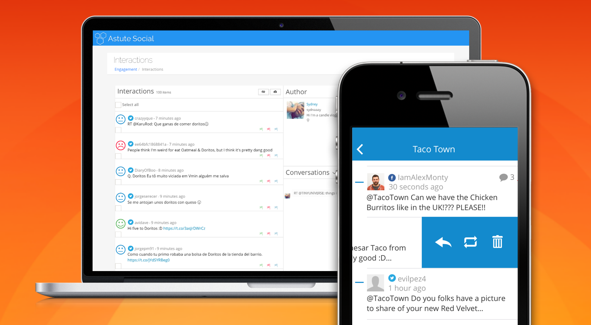 Astute Social™ mobile app enables real-time, 24/7/365 monitoring and engagement