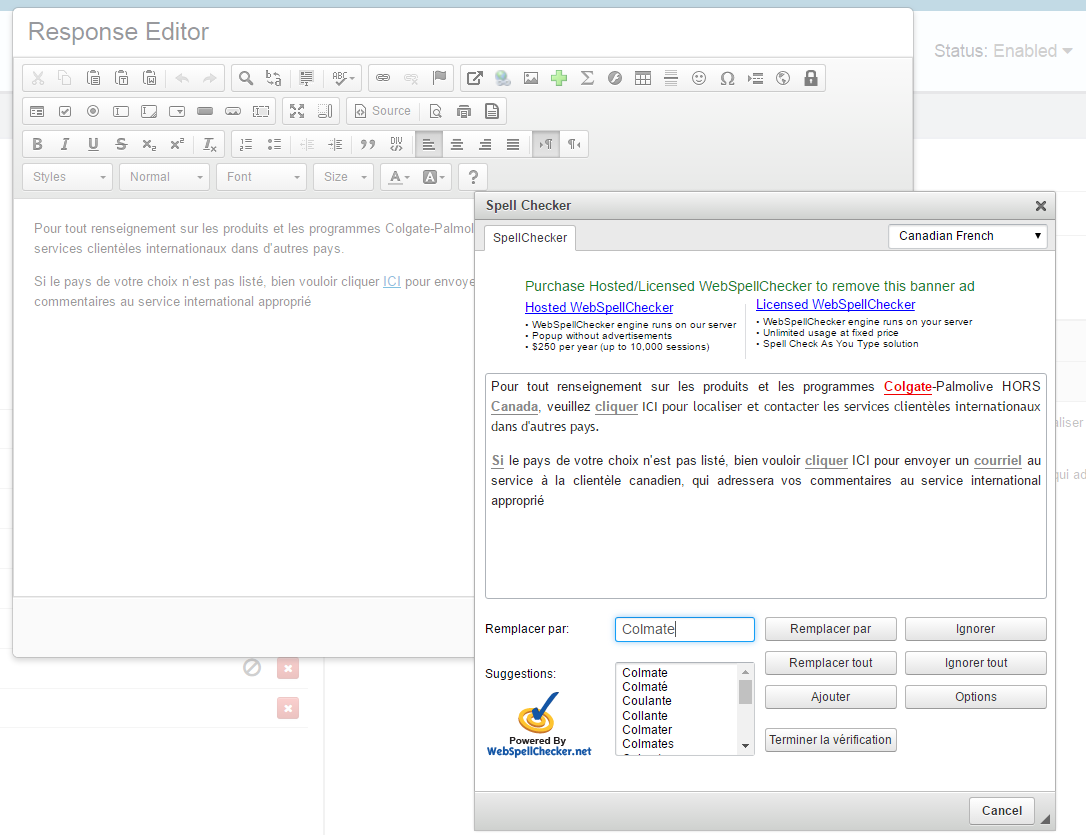 language response editor astute knowledge