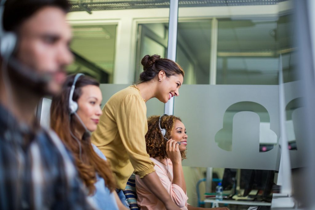 contact center agents working to break free from their call center script