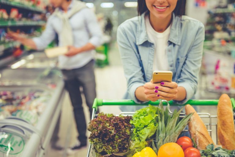 customers using devices to engage in ecommerce shopping