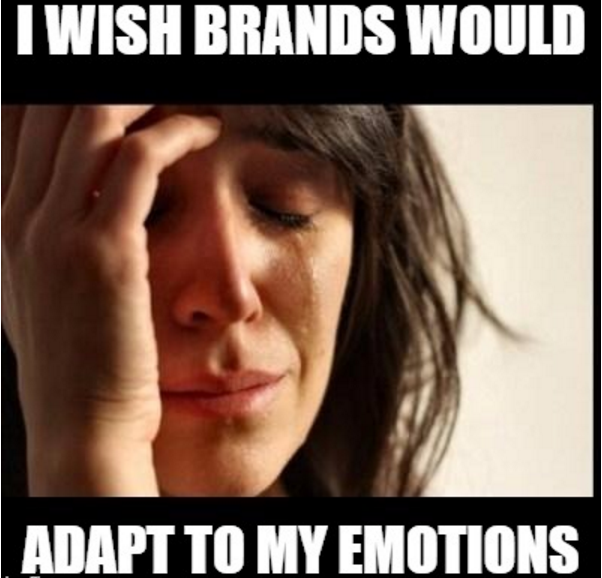 crying girl sad wishes brands would understand emotions