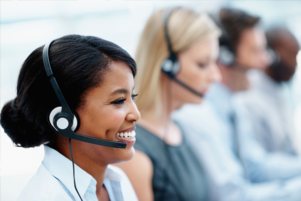 agents working at a call center de stressing with help from automation