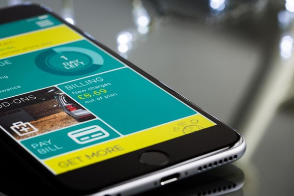 digital experience for customers shown by a smartphone screen