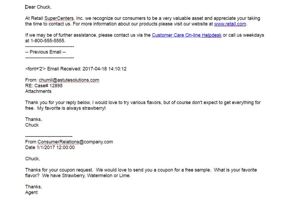 ePowerCenter inbound emails