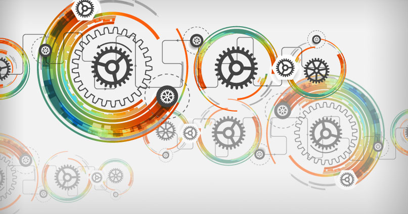 gears illustration to represent robotic process automation or rpa