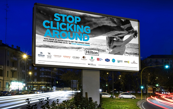 CX trends in the travel industry exemplified by Hiltons stop cliking around campaign