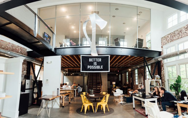 office with better is possible sign