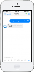 example of conversational service for airline chatbot