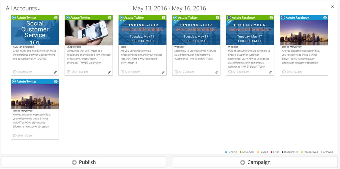 Astute Social media publishing tool