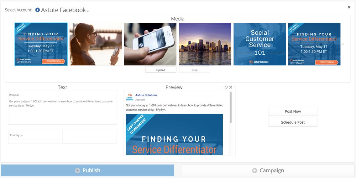 Astute Social media management software