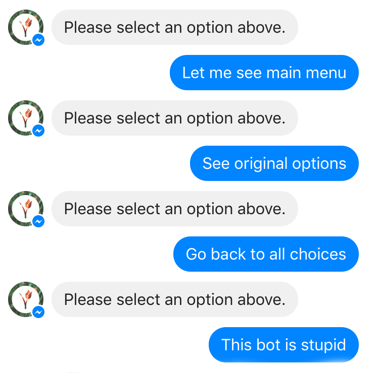 chatbot with poor nlp