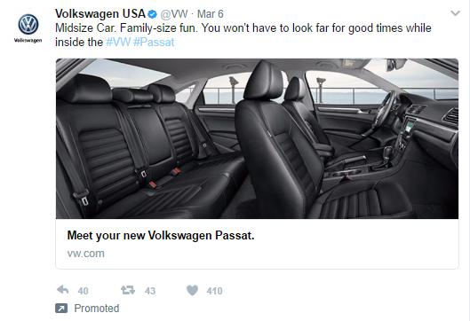 Volkswagen Passat Twitter ad