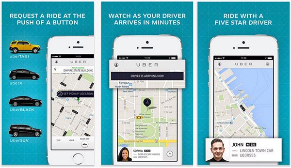 screenshot of Uber's omni-channel experience