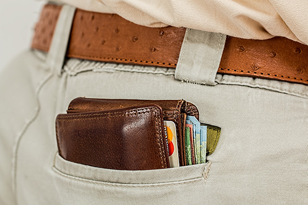 Wallet in a pocket showing CX Trends in Retail