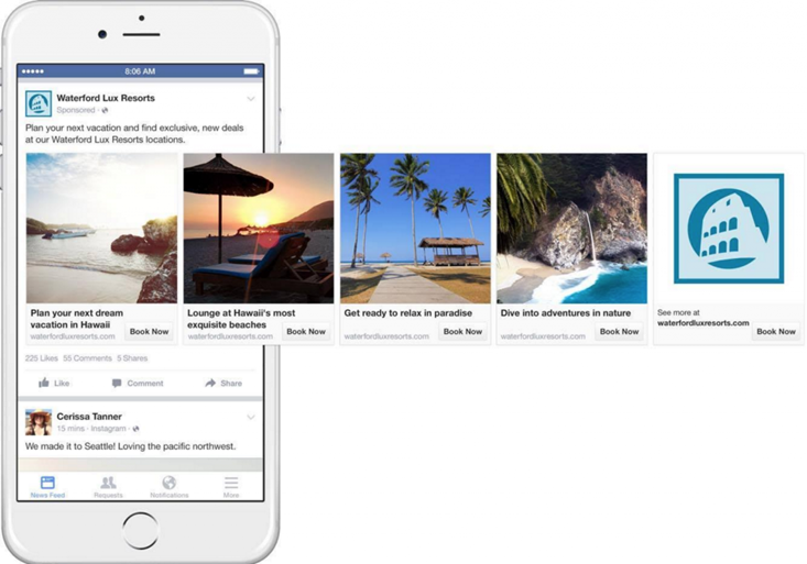 waterford lux resorts successful facebook ad