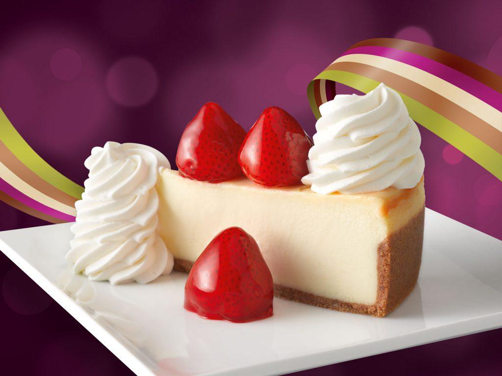 cheesecake factory cheesecake with strawberries