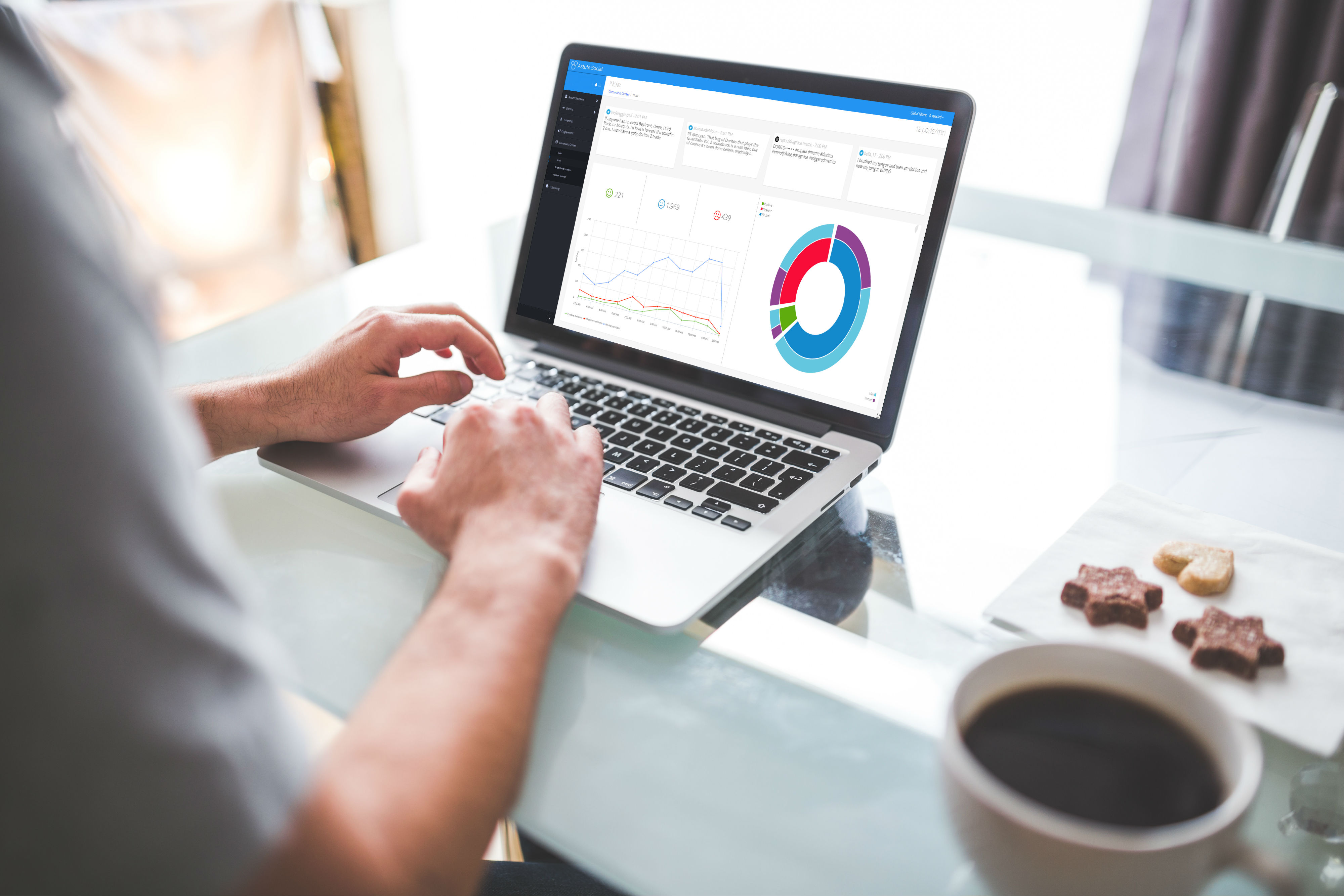 New social media capabilities provide up to the minute cross-platform analytics