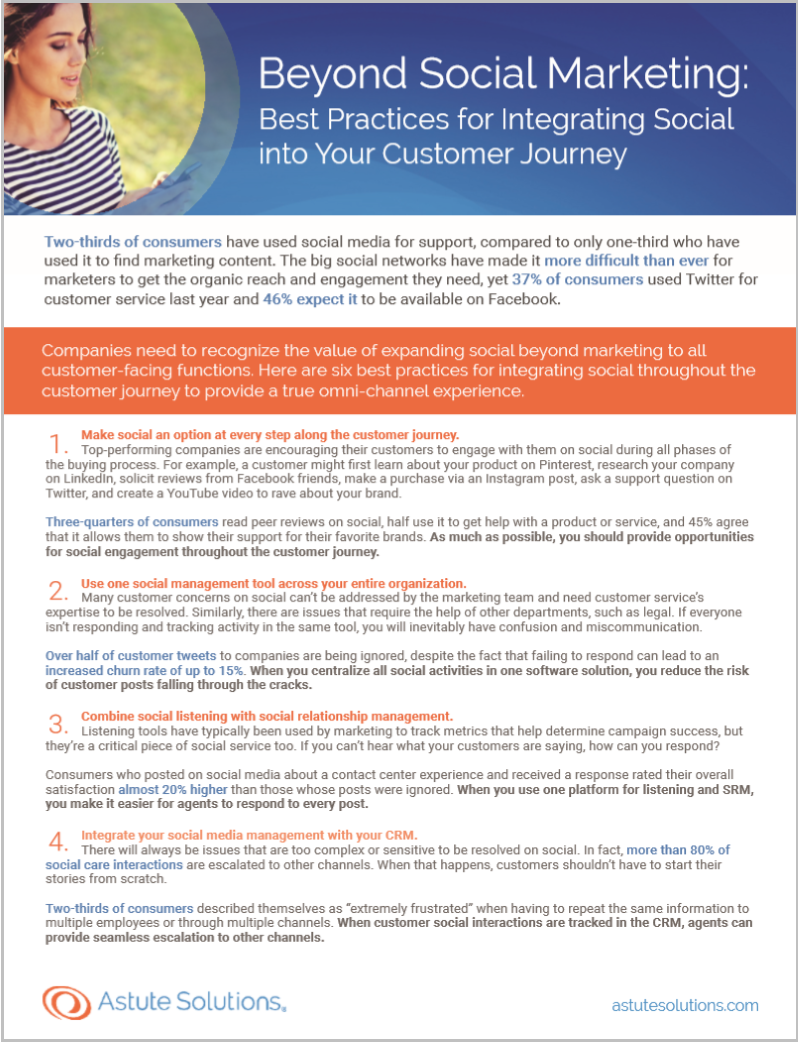Learn how to meet consumers' expectations for social options during all phases of the buying process.