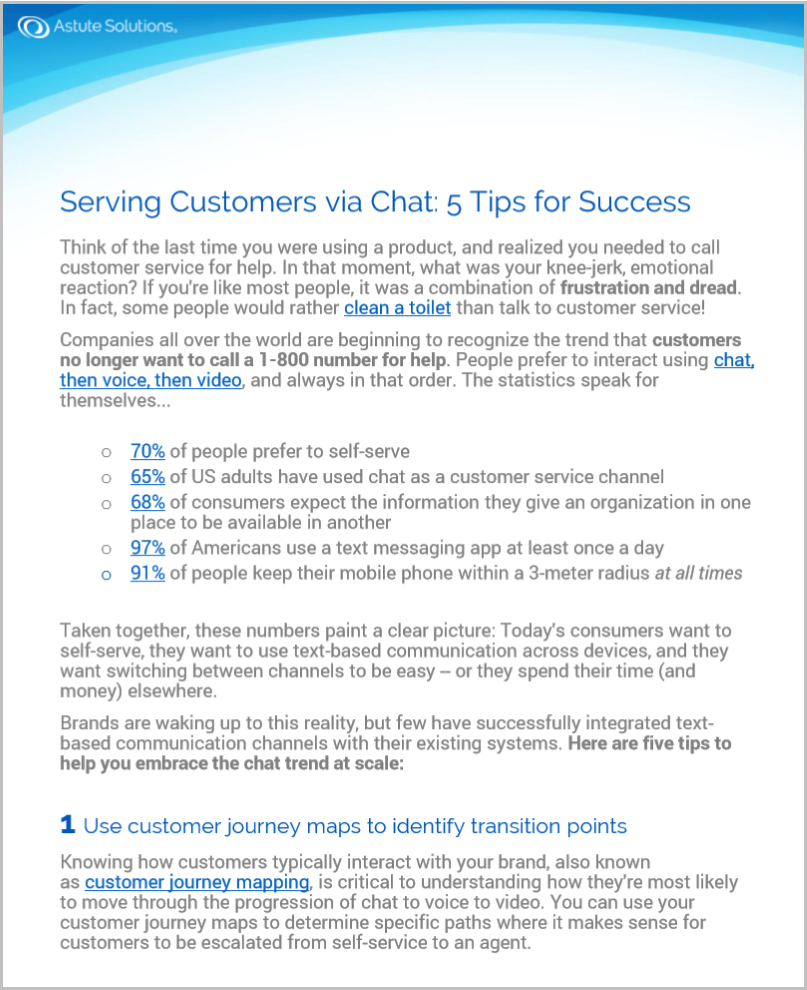 Customers prefer to use chat and messaging apps to communicate -- whether it's with their friends or with the brands they love. Download the tip sheet to learn more.