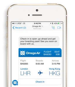 example of chatbot service for airlines