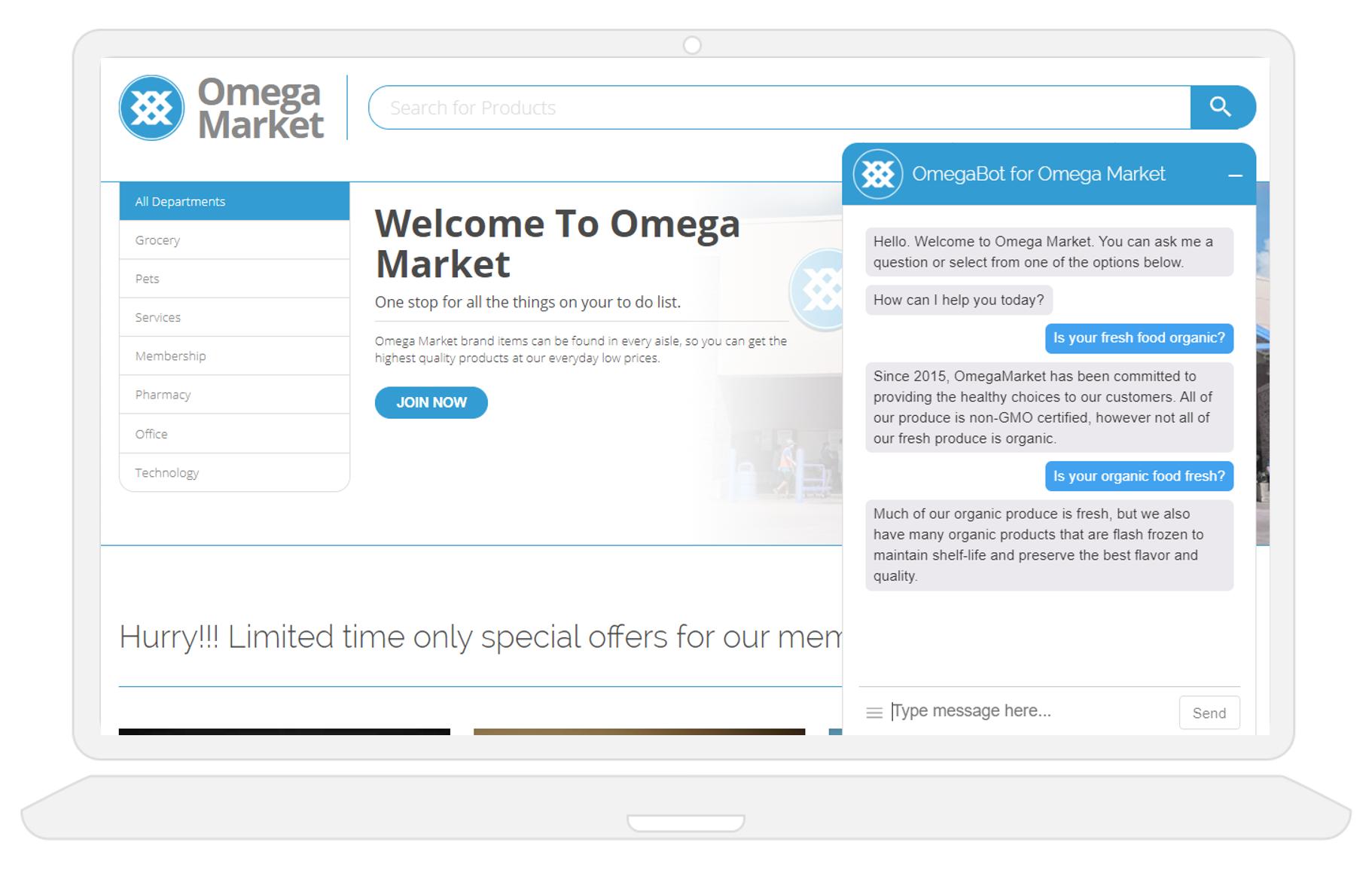 customer service bot using natural language processing NLP and AI