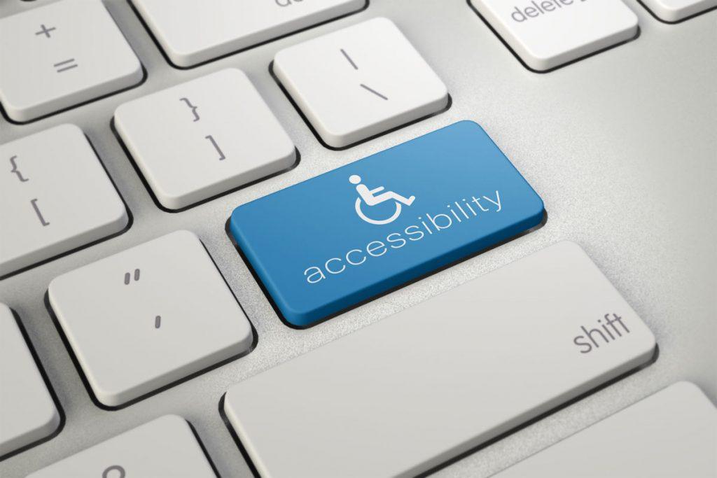 digital accessibility button on keyboard