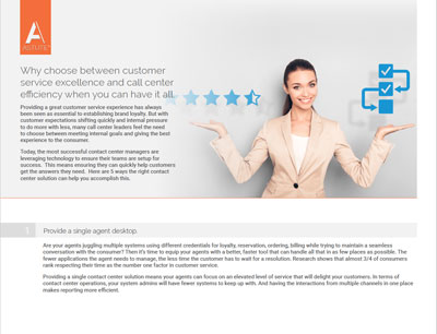 Delivering the best customer service experience while running an efficient agent call center can be a real challenge. On the one hand, you are asked to take on increased volumes with reduced or flat staff. On the other hand, the expectations of the level of service being provided across a growing number of channels continues […]