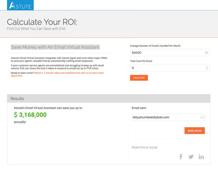 roi calculator for eva email virtual assistant