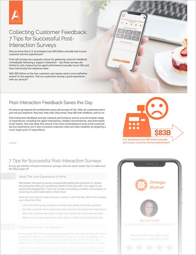 tip sheet collecting customer feedback