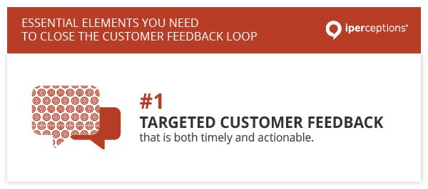 To close the customer feedback loop, you need targeted customer feedback that is both timely and actionable