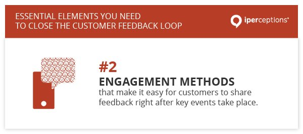 To close the customer feedback loop, you need to choose engagement methods that make it easy for customers to share feedback right after key events take place.