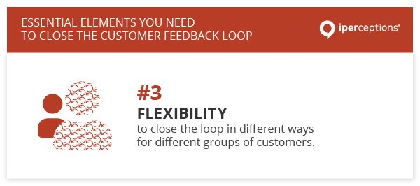 To close the customer feedback loop, you need the flexibility to close the loop in different ways to different groups of customers.