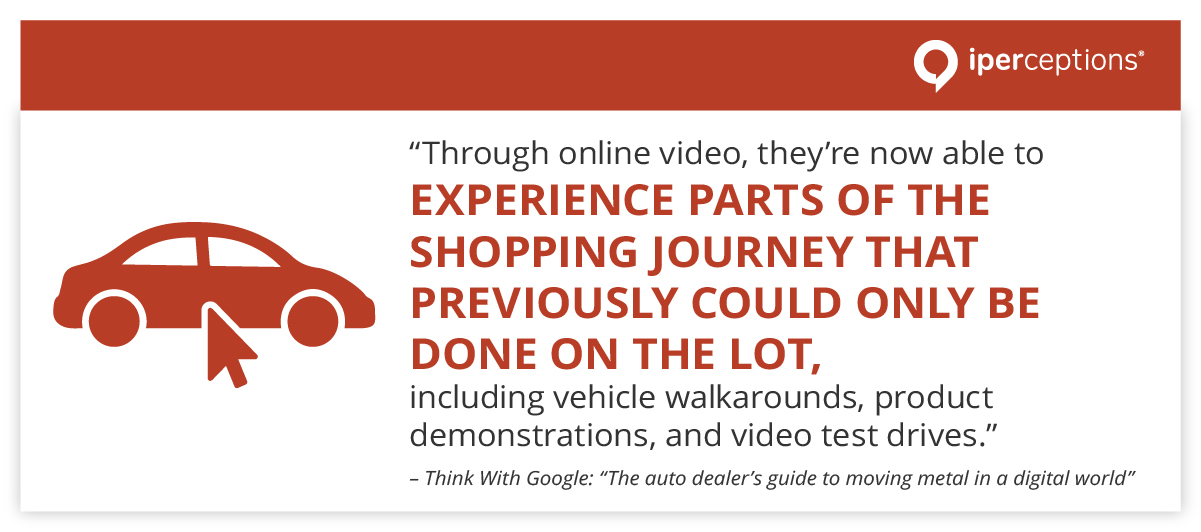 quote about the car buying customer journey and online video