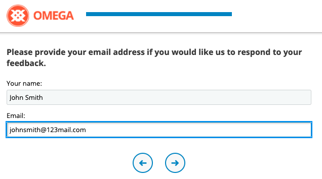 Example of CSAT Survey Question, Contact info