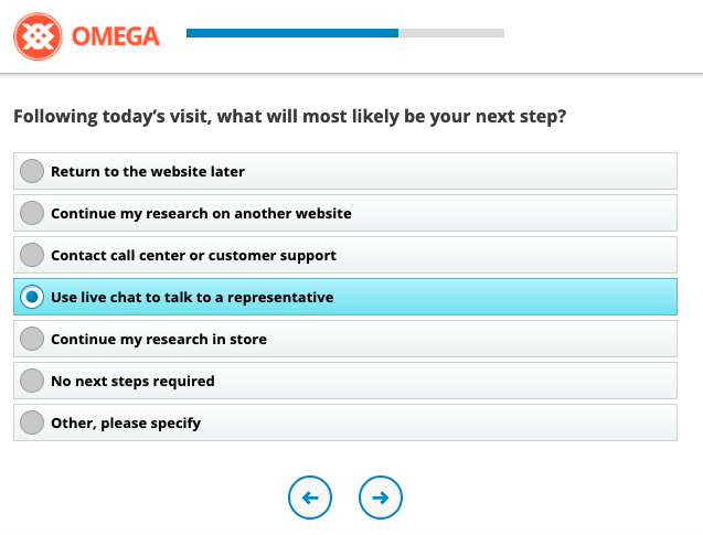 Example of CSAT Survey Question, Next Steps